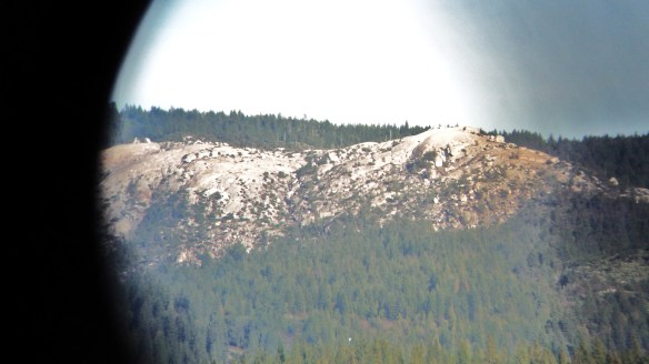 Bald Rock through binoculars from the property