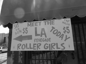 Roller Derby Car Wash Sign