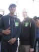 Puppeteer Sean Johnson and Chalk Artist Michael Ray De Los Angeles Menjivar