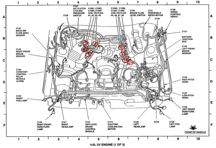 1990 ford mustang engine diagram 2015 mustang engine diagram how to replace spark plugs on a ford mustang gt 1996-2004 ...