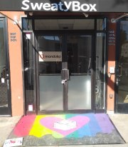 Color Splash in front of SweatyBox in West Hollywood